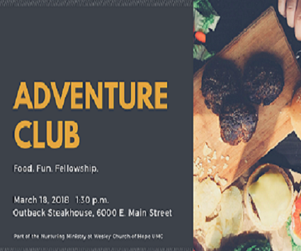 Adventure Club Meet Up - Nurturing Ministry at Wesley Church of Hope