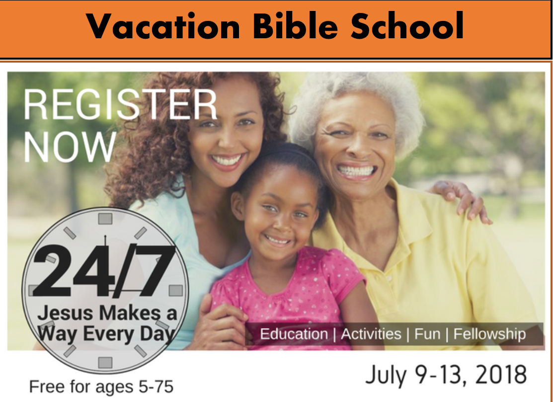 VBS Registration 2018 - Vacation Bible School at Wesley Church of Hope