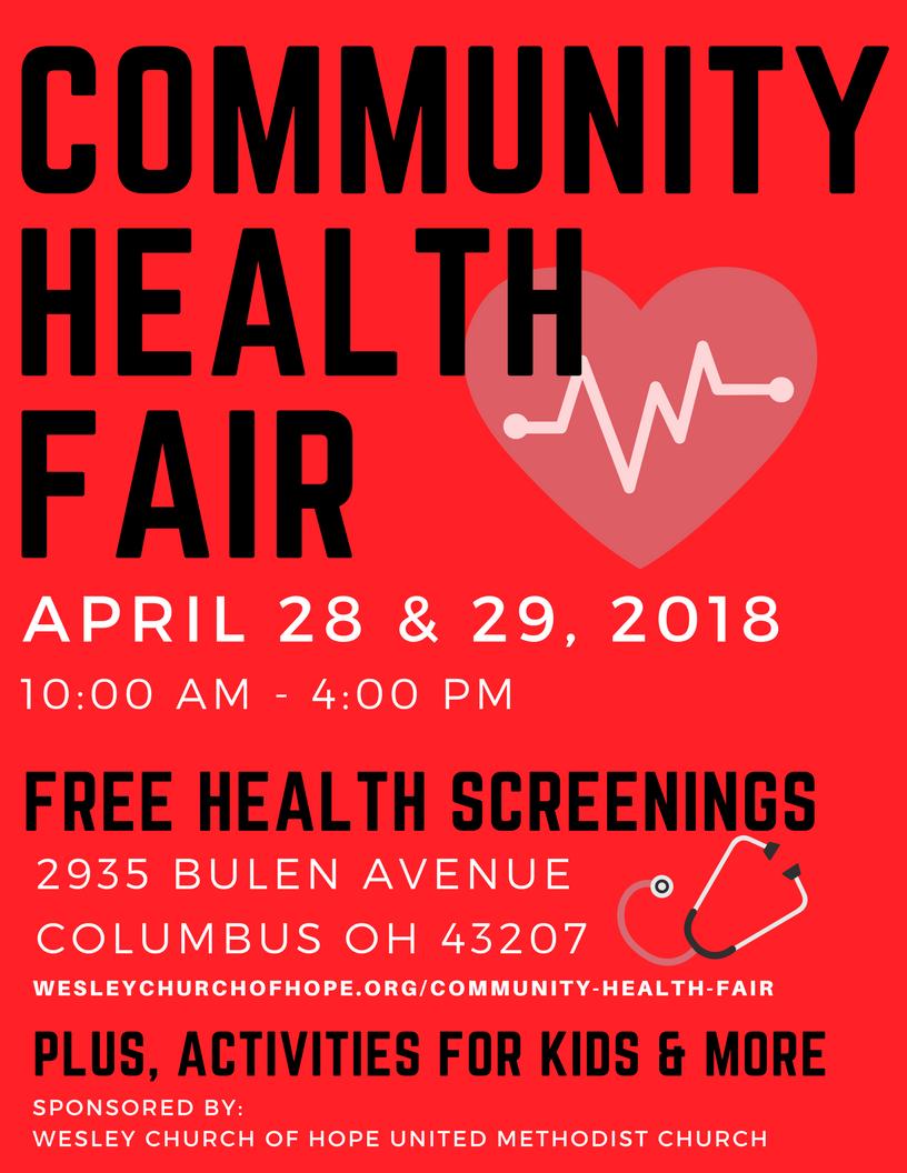 Southside Community Health Fair - April 28 - 29, 2018
