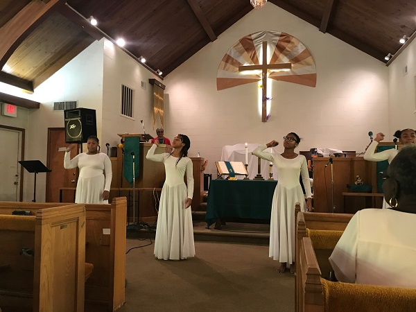 Dance Ministry on Youth Sunday at Wesley Church of Hope