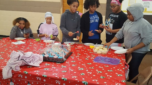 Dance Ministry decorates cookies before attending The Nutcracker