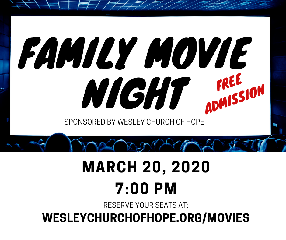 Family Movie Night - March 2020