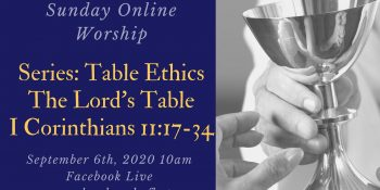 Table Ethics: Your Table