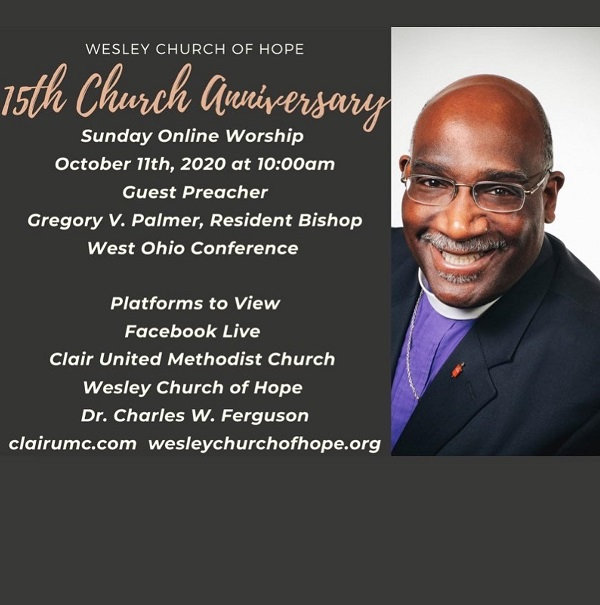 Bishop Gregory Palmer helps Celebrate Church Anniversary 2020